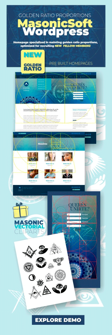 primer theme masonico de wordpress